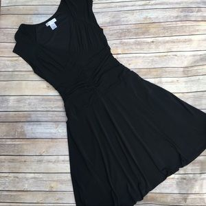 WHBM little black dress ruched waistline